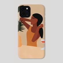 Tropical Boho Girl - Phone Case by Ariani Anwar