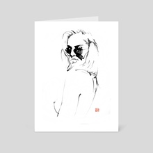 lunettes - Art Card by philippe imbert