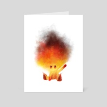 Baby fire - Art Card by César Samaniego