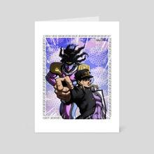 Kujo Jotaro and Star PLatinum - Art Card by CELL-MAN