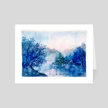 Fog on the river - Art Card by Alexandra Krylatkova