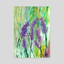 Originally painted acrylic lavender - Canvas by Luiza Kozich
