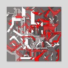 Tech #3 - Acrylic by Hernan Roperto