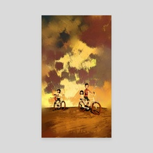 Family Cycle Ride in Summer 10 - Canvas by Archv Rit