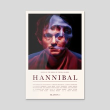 Hannibal - Season 1 - Acrylic by Carina Tous