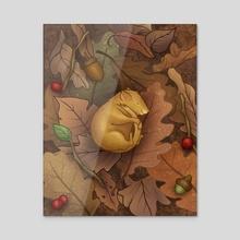Sleeping Mouse - Acrylic by Shannon Szczepanski