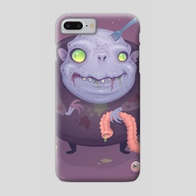Blob Zombie - Phone Case by John Schwegel