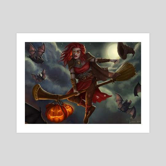 Halloween Witch by Gislaine Avila