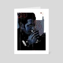 blue spitz   (2000) - Art Card by damien oh