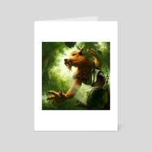 Kobold with a Bola - Art Card by Andrew Gaia