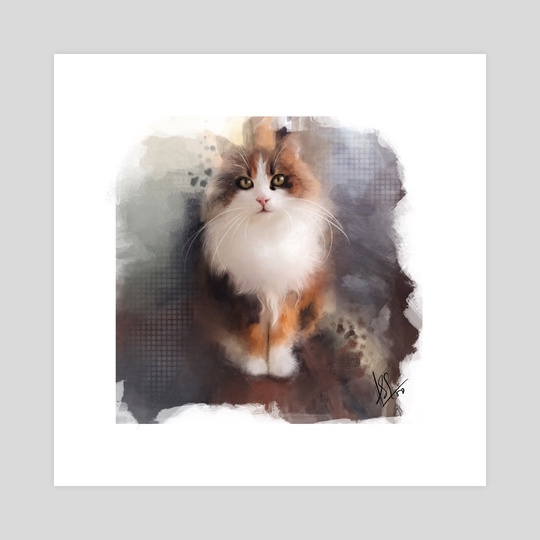Cat Portrait 02 by Anuradha Grover
