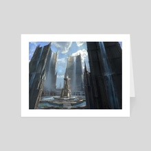 Hallowed Fountain - Art Card by jung park