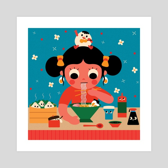 Ramen Girl by Uijung Kim