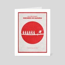 Seven Samurai - Art Card by Deniz Akerman