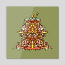 Mountain of Fun - Acrylic by Paul Cowell
