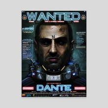 DANTE - WANTED - Canvas by Dan LuVisi