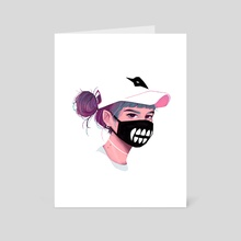 Vampire mask - Art Card by Joy Cardaño