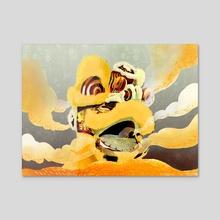 Southern Lion dance - Acrylic by Van Tran
