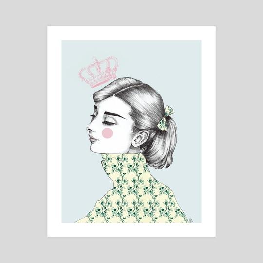Audrey Hepburn Queen by HELENA MOON