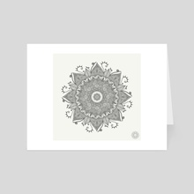 Flower mandala 1 - Art Card by Lucy Phillips