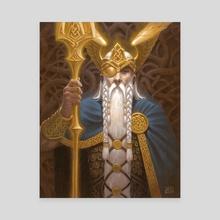 Odin - Canvas by Alex Stone