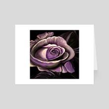 Purple Rose - Art Card by adam santana