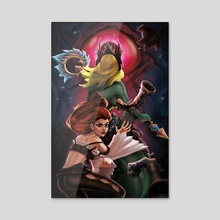 Miss Fortune and Nami  - Acrylic by Megan Sunnucks