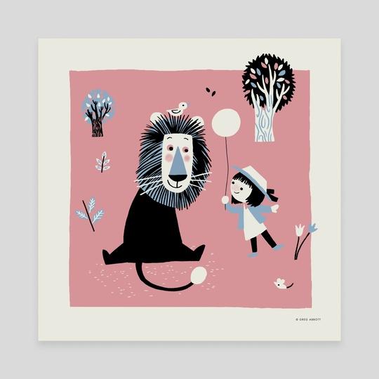 Lion In The Park by Greg Abbott