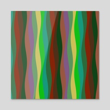 Waves 62 - Acrylic by Chris Foulkes