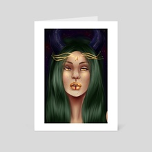Night Queen - Art Card by Dannielle McGowan