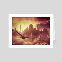 (Cloud) City of Brass - Art Card by Simon Pape