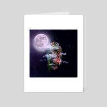 Alone In Space - Art Card by Agit Akbulut
