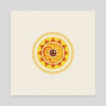 Surya - Canvas by Anuradha Grover