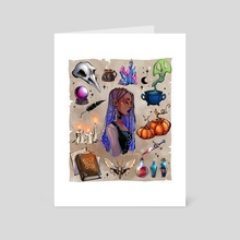 Witchy moodboard - Art Card by Gretel Lusky