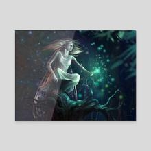 Fairy - Acrylic by Aleksander Karcz