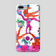 Gymnastics - Phone Case by Lisa Hanawalt