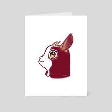 Goat - Art Card by Ercan Sert