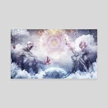 Awake In A Silver Land - Canvas by Cameron Gray