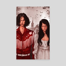 The White Stripes - Canvas by Martha Walker