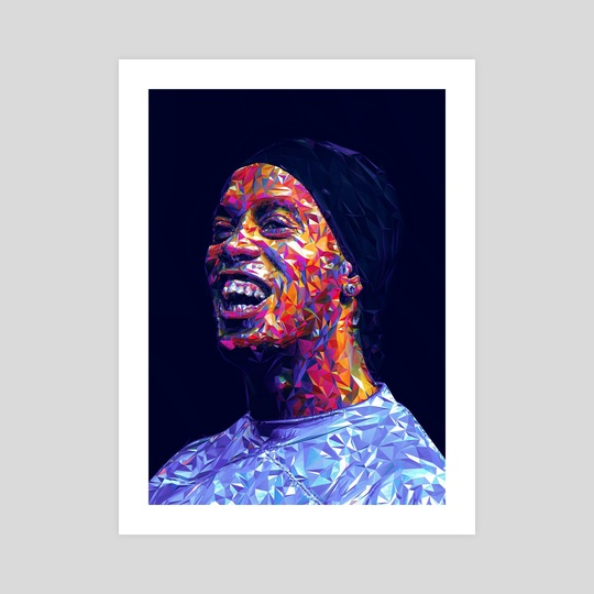 Ronaldinho Illustration  by Visuals Artwork