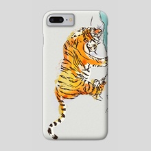 Thirsty Tiger - Phone Case by Min Morris