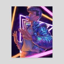 Neon light Josuke - Canvas by Kia Chou