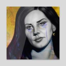Starry Lana - Acrylic by Sadie Lew