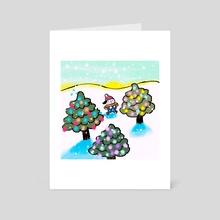 Snow Pup - Art Card by Jazzmin Smith