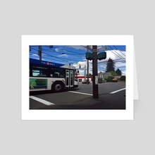SE 72nd and Harold - SE Portland, Oregon - Art Card by Jason Pedegana