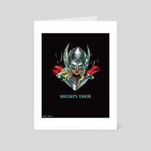 Low Poly Mighty Thor - Art Card by Kazi Sakib