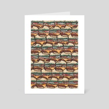 Cheeseburger Picnic - Art Card by Dream Green