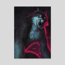 Werewolf - Canvas by Johanna Tarkela