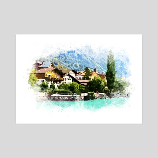 Swiss Alps Mountain Resort by Olivera Pavlovic Naumovski