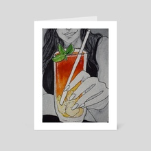 tequila sunrise - Art Card by Lesath Lux